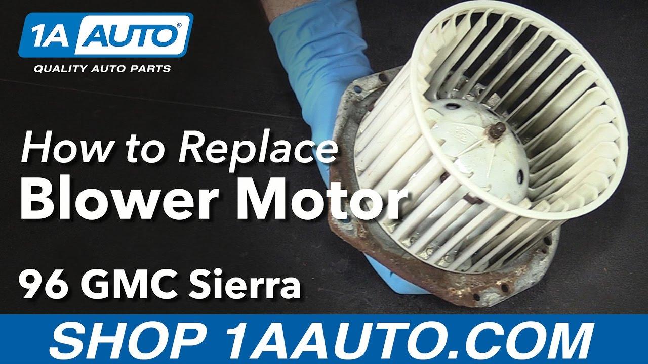 how to replace blower motor 92 96 gmc sierra k1500 [ 1280 x 720 Pixel ]