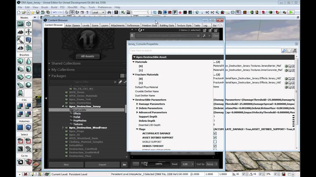 APEX Destruction PhysXLab Tutorials | NVIDIA Developer