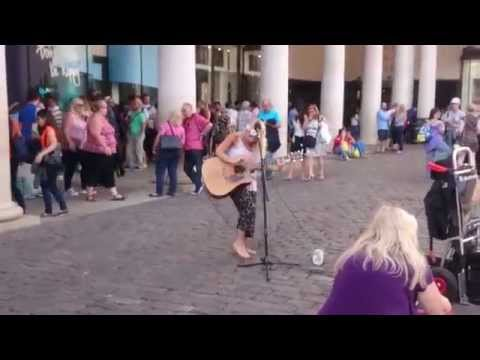 Sam Smith, Money on my Mind cover - Busking on the streets of London, UK