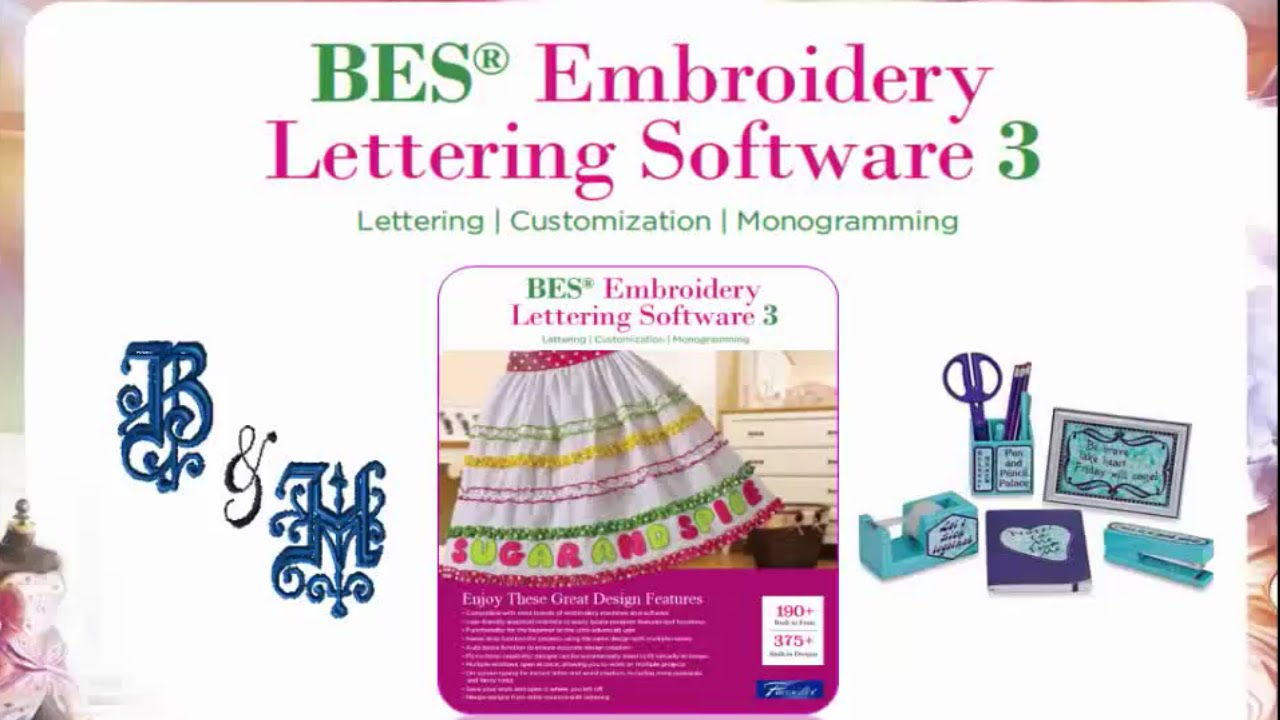 brother bes embroidery lettering software 3 overview