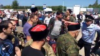 Драка казаков с ФБК Навального в Анапе
