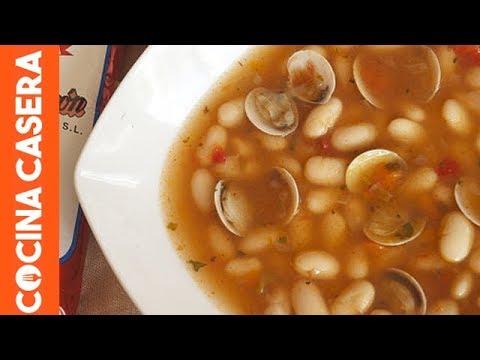 Fabes o fabada con almejas recetas de cocina youtube for Como cocinar almejas