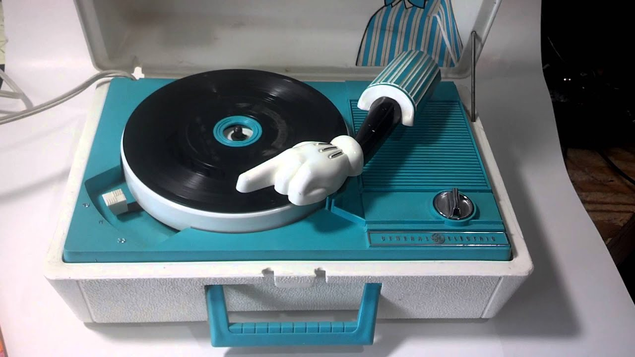 Vintage Ge Mickey Mouse Disney Record Player Youtube