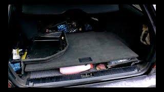 BMW e34 - Подробный разбор салона - Часть 8 - вырезаем косу обогрева сидений, подрулевая проводка