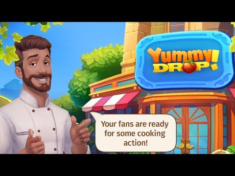 YUMMY DROP Android / IOS Gameplay Trailer   Match 3 And Cooking Game