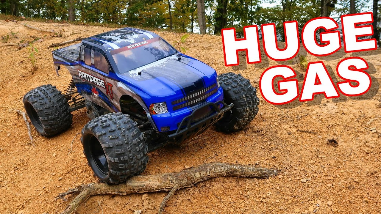Huge Gas Rc Monster Truck 1 5 Scale Giant Redcat Racing Rampage Xt Thercsaylors Youtube