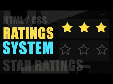 Star Rating Widget Using CSS 3 / HTML 5  /NO JavaScript / Web Design
