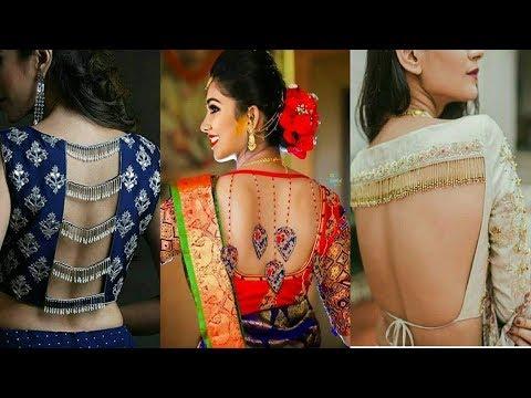 Latest Trendy Designer Blouse Design with Stylish Back Neck Design Stylish 2019 by Trendy India 1