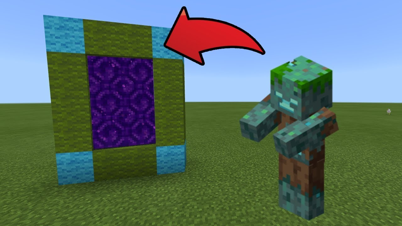 How To Make a Portal to the Drowned Zombie Dimension in MCPE (Minecraft PE)