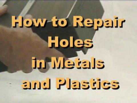 How To Repair Small Holes In Metal And Plastic Cases And