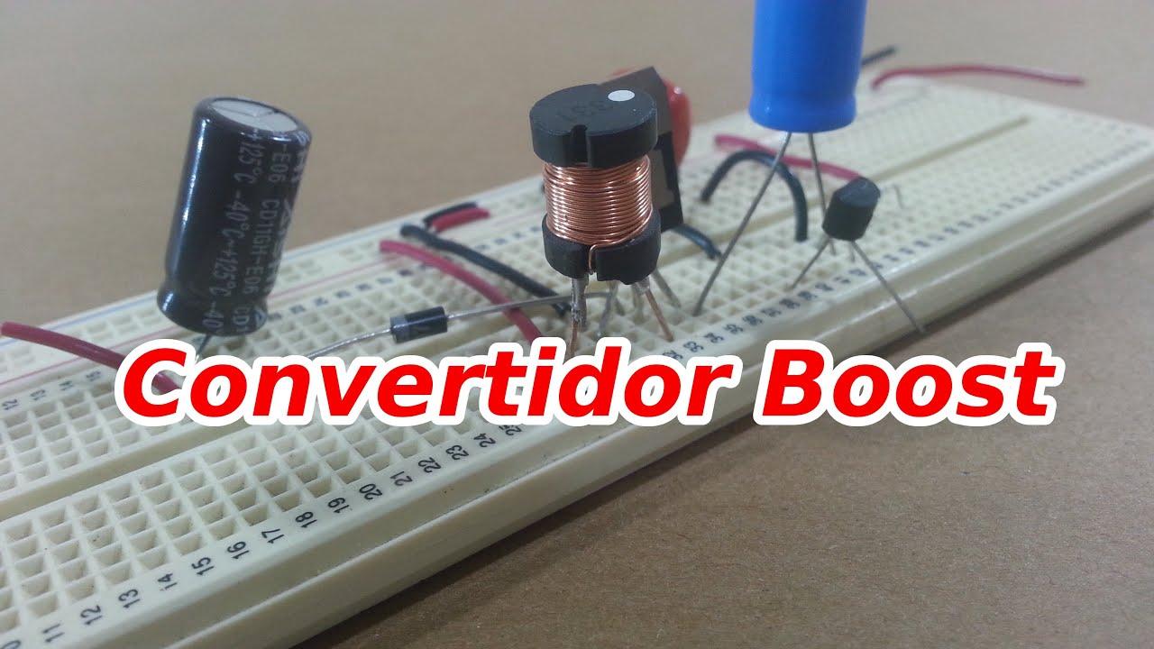 Circuito Boost : Convertidor boost elevador de voltaje simple youtube