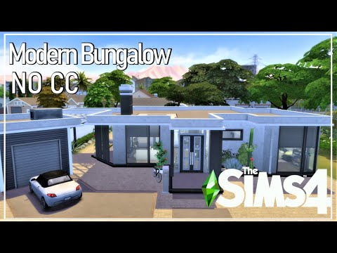 modern minimalistic house NO CC I Sims4 Stop Motion