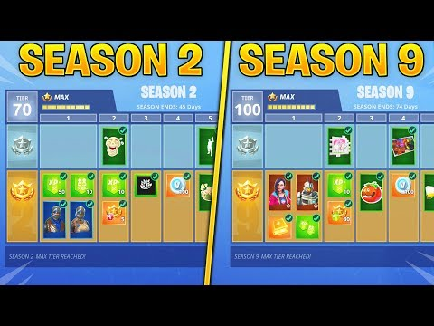 Evolution Of Fortnite Battle Pass Items From Season 2 - Season 9! (Fortnite Nostalgia)