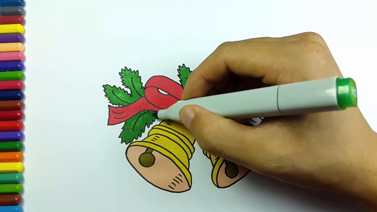 coloring pages christmas : coloring pages of kid | Christmas bells ...