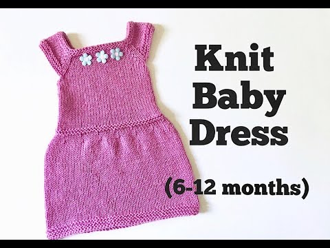 811613888 Knit Easy Baby Dress Tutorial (6-12 months) - YouTube