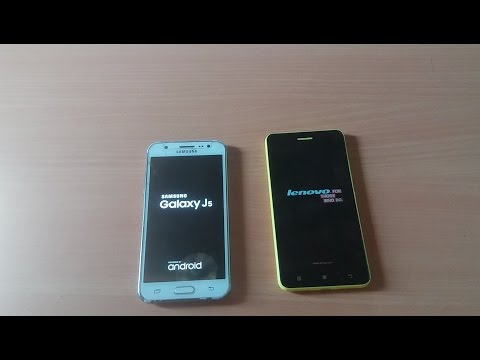 Samsung Galaxy J5 (2015) vs Lenovo S60 Booting Speed Test