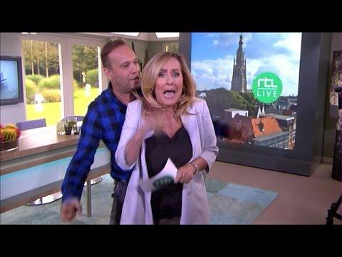 Carlo jaagt Angela de stuipen op het lijf - RTL LIVE