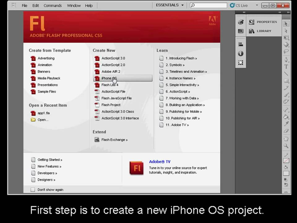 flash cs5 - publish iphone apps without being an apple developer, Flash Cs5 Presentation Template, Presentation templates