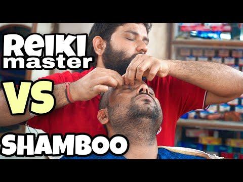 Reiki Master VS Shamboo Barber  | Head Massage | Crackings | ASMR | Indian Barber | Indian Massage