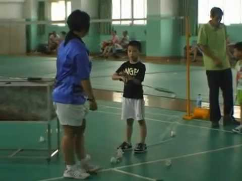 Training method for young badminton players in China