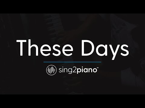 These Days (Piano Karaoke Instrumental) Rudimental, Jess Glynne, Macklemore & Dan Caplen