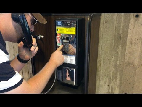 Cooper Finds a Working Payphone in Duluth, MN
