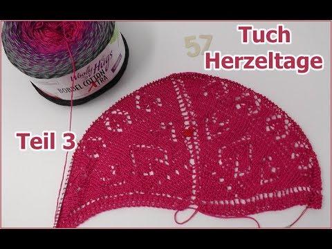 Tuch Herzeltage Einfach Stricken Teil 3 Bobbel Cotton Xtra Von Woolly Hugs