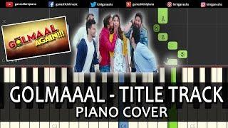 Golmaal Title Track Song Golmaal Again | Piano Cover Chords Instrumental By Ganesh Kini
