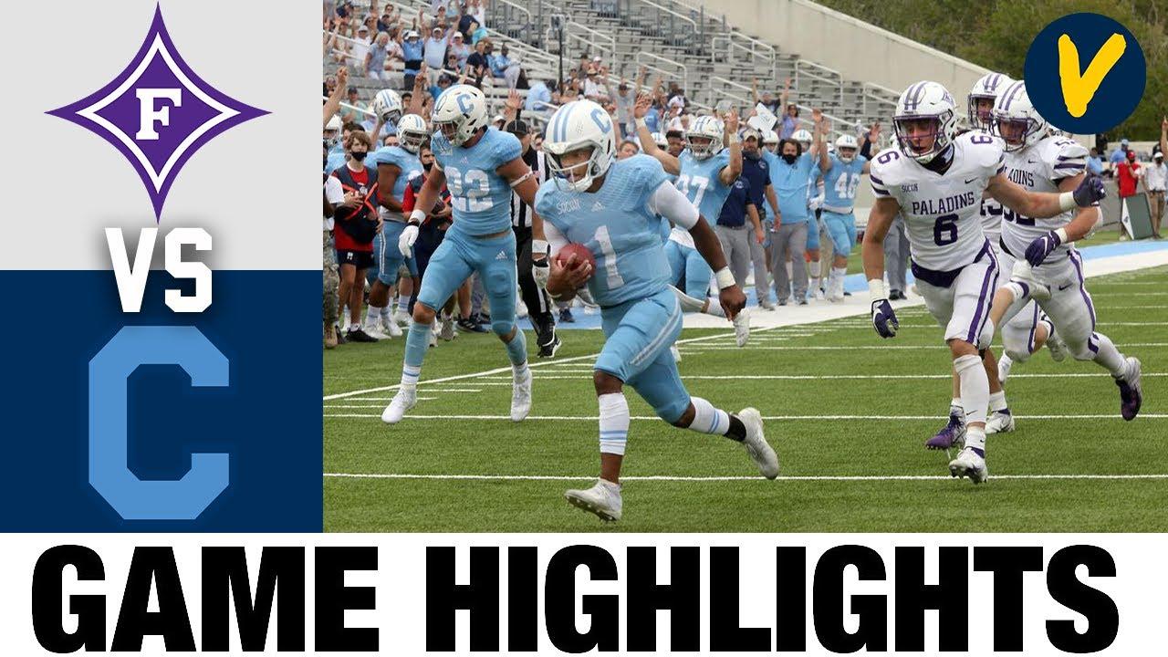 Furman vs The Citadel Highlights | FCS 2021 Spring College Football Highlights