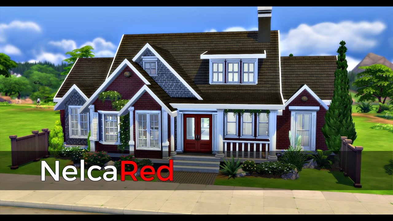The sims 4 speedbuild basegame small family house youtube for The family house