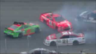 Danica Patrick Spins; Causes 7-Car Pileup Early @ Michigan [Multiple Angles]  [HD]