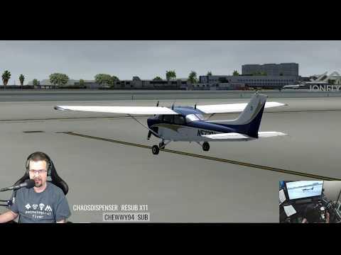 P3D 4.1  A2A Cessna Skyhawk 172 Part 1 of 2 GTN750