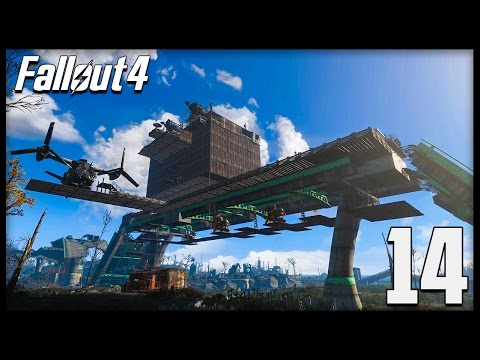 Fallout 4 BASE BUILDING! Finishing the Highway Hotel, The Armory & Penthouse! (Let's Play #14)