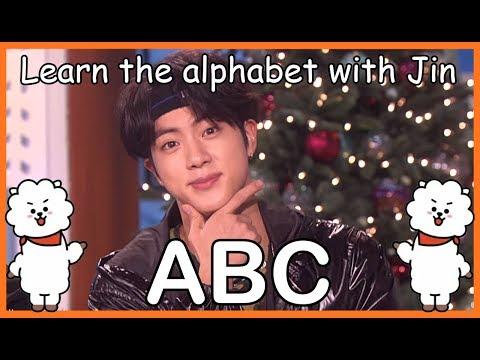LEARN THE ALPHABET WITH BTS JIN