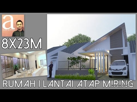 Desain Rumah 1 Lantai dengan atap miring