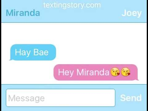 Mirandasings and Joey Graceffa text fight (RP)