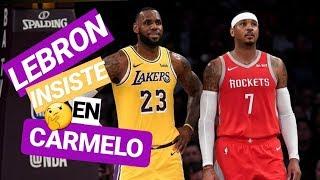 LEBRON JAMES quiere a CARMELO ANTHONY en Los Ángeles LAKERS   Noticias NBA en español