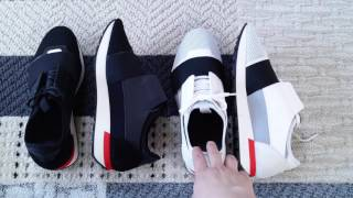 Balenciaga Men's Race Runner Sneakers - Spring 2017 Try-On