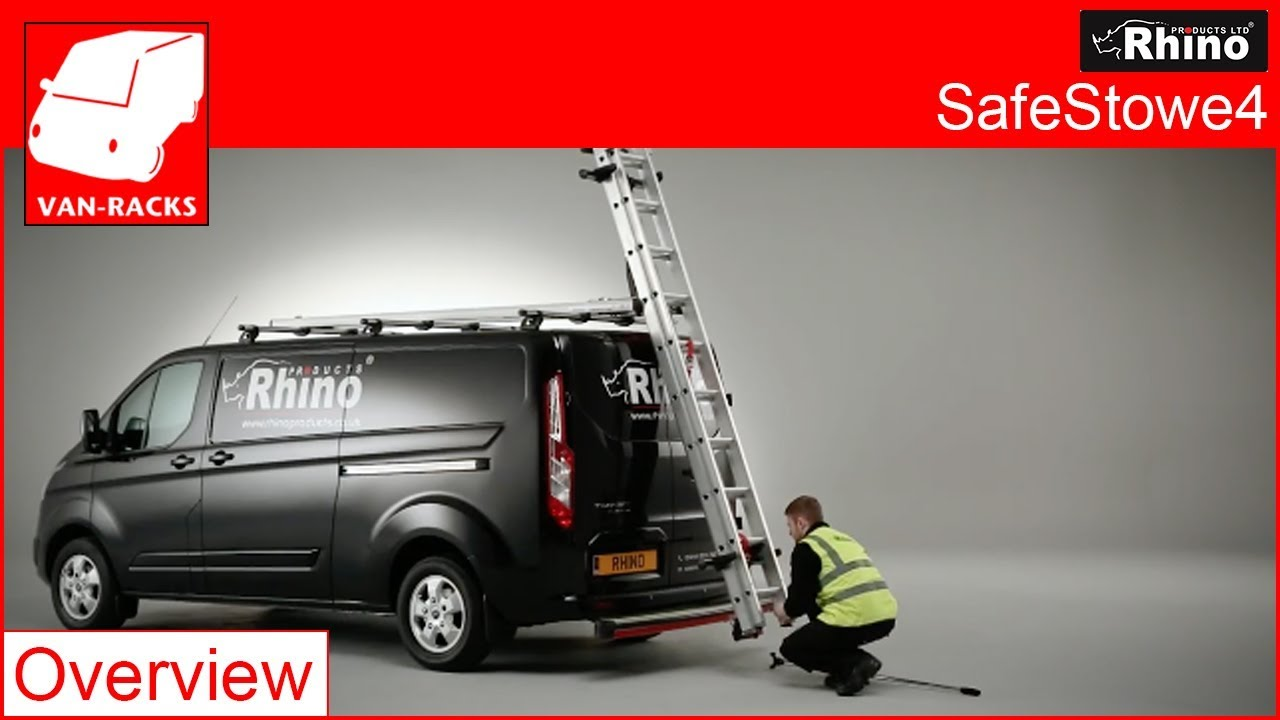Rhino Products SafeStow4® ladder handling system - Overview & Rhino Products SafeStow4® ladder handling system - Overview - YouTube