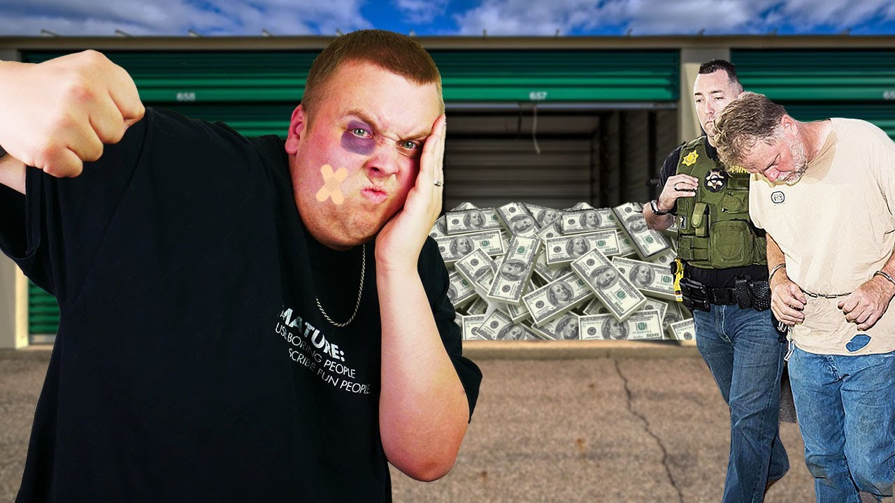 I Bought a HITMANS Storage Unit and HAD TO DEFEND MYSELF! BIG MONEY Storage Unit Finds!