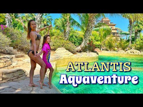 Аквапарк Дубай 4к. Отель Атлантис аквапарк Дубай Aquaventure 2020