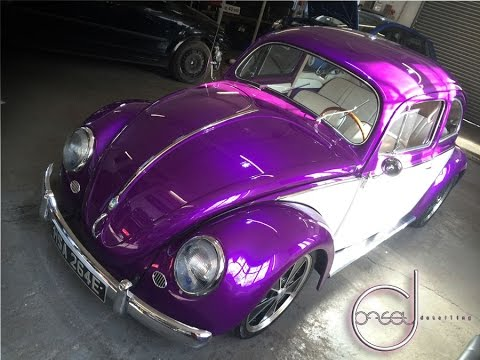 OFFSET DETAILING ESSEX 1954 CUSTOM OVAL VW BEETLE, 200BHP FULL DETAIL - YouTube