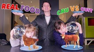 REAL FOOD CHALLENGE - CRU VS CUIT !! - Studio Bubble Tea Real Food Challenge