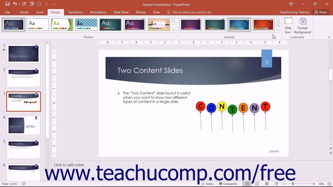 powerpoint 2016 tutorial creating custom color schemes microsoft training