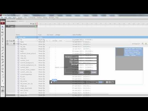 How to insert the video player YO into a new flash project