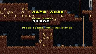 Spelunky Classic HD - PS4 Homebrew - Fail Gameplay