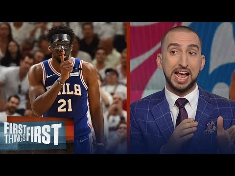 Nick Wright on Embiid's playoff debut in Philly, Talks Anthony Davis' Pelicans | FIRST THINGS FIRST