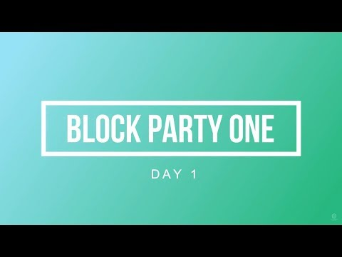 Block Party One: Day One - Bitcoin Blockchain 101 with Martin Davidson