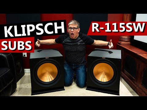 Dual Klipsch R 115SW Subwoofers | Unboxing and Overview