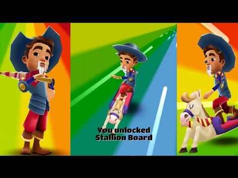 Subway Surfers Barcelona - Unlock Chivalry Diego & Stallion Board |